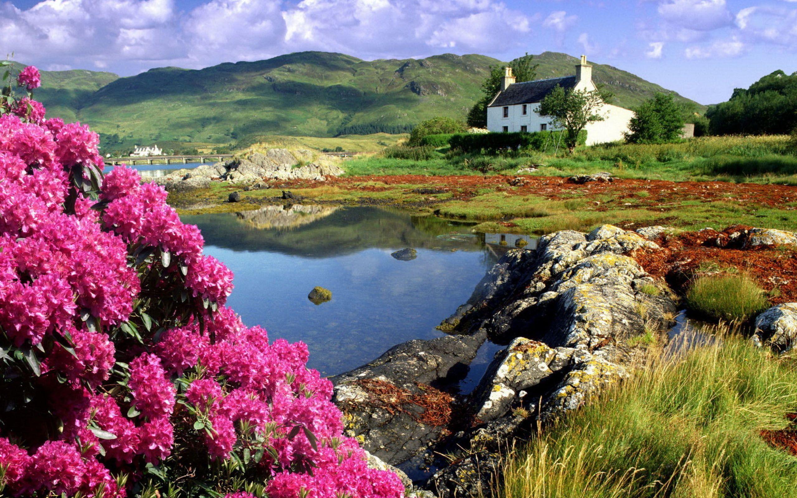 Scottish Highlands Dornie Ross Shire Highlands Scotland Desktop Wallpapers Wall Beautiful Landscapes Scenery Nature Wallpaper