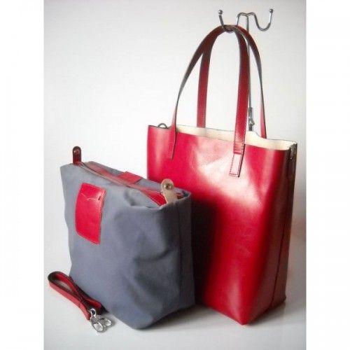 2c18f8ab7b47c Elegancka Torba Damska - Shopper Bag- Skóra Naturalna- Vera Pelle - Jaka  Torebka