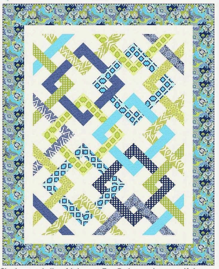 free pattern = Fresh Connections by Jean Katherine Smith for ... : geometric quilt patterns free - Adamdwight.com