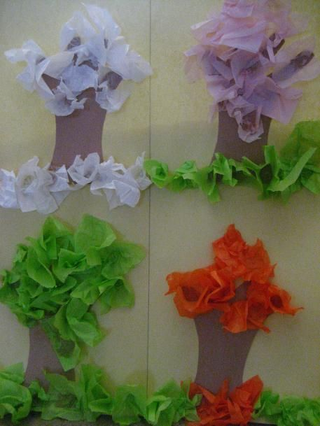 The Four Seasons Craft For Kids Paper Trunks And Tissue Paper