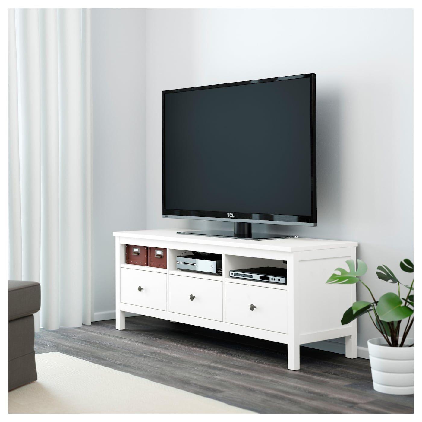 hemnes tv bank weiss gebeizt 148x47x57