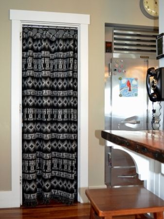 Fabric Cover Up: 8 Great Makeovers For #Kitchen #Pantry Doors