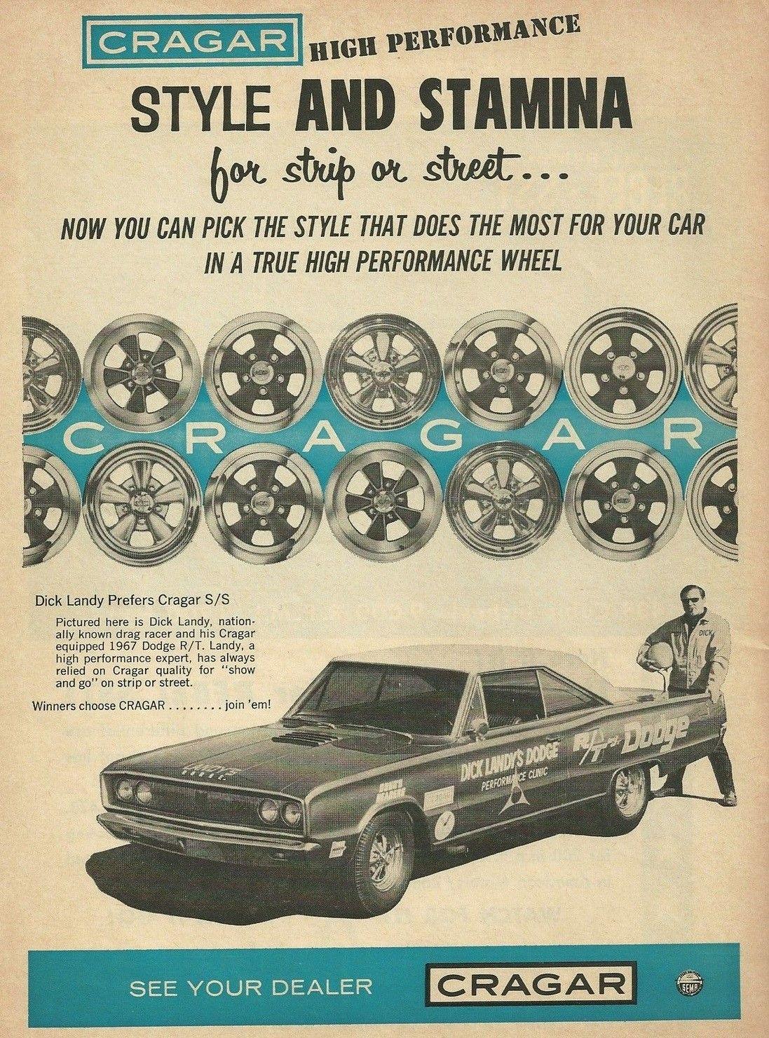 Vintage Drag Racing Dick Landy And Cragar Wheels Automotive Hyundai Pony Wiring Diagram