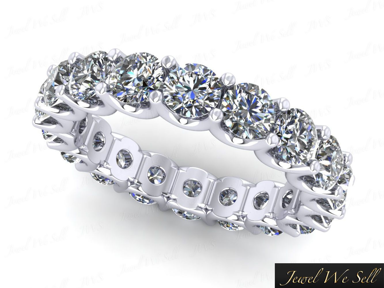 4 50ct Round Diamond Shared U G Eternity Band Ring 950 Platinum Si1 Common Ping Pinterest Bands And
