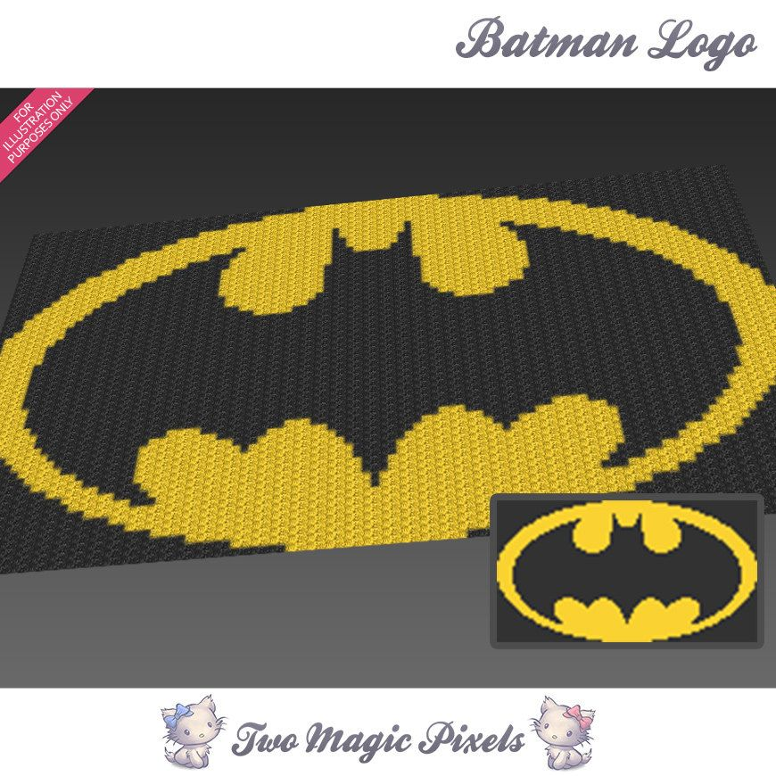 Batman Logo Inspired Crochet Blanket Pattern Knitting Cross Stitch