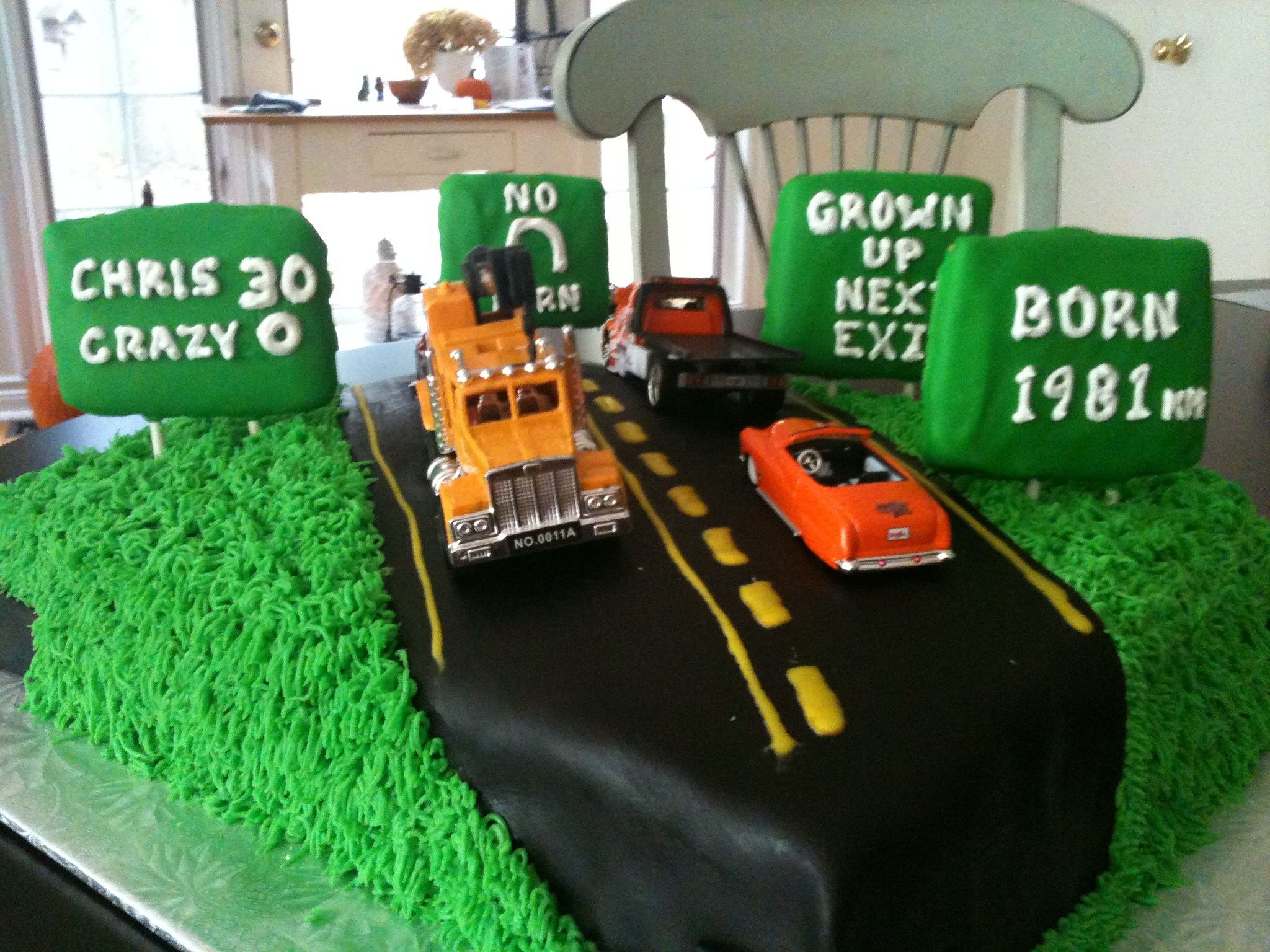 Brilliant 30Th Birthday Cake For Chris Truck Driver With Images Dump Funny Birthday Cards Online Fluifree Goldxyz