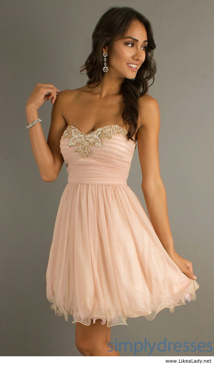 Light pink short dress for party | Dresses | Pinterest | Short ...