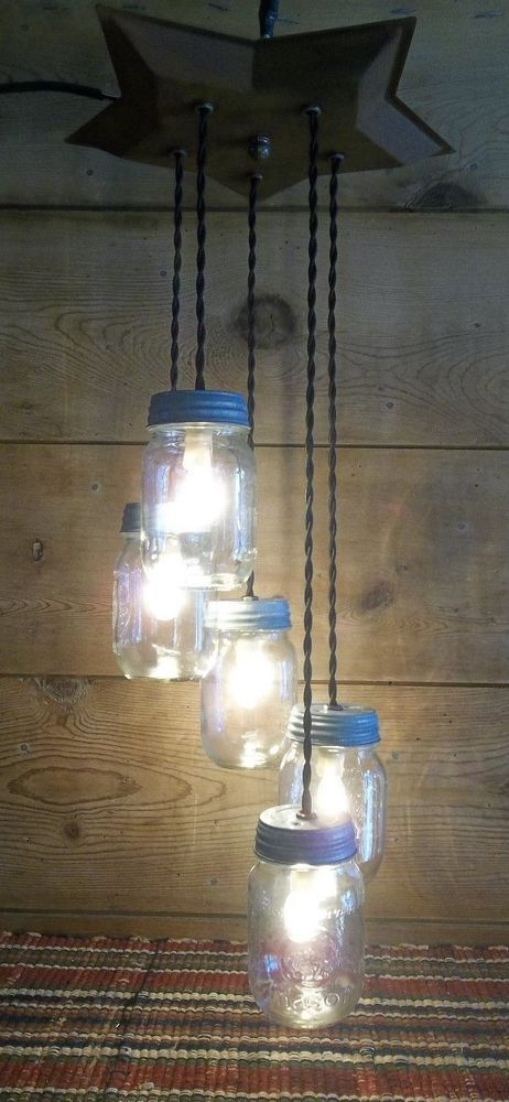 Star ball mason jar light fixture metal star 5 jar chandelier u star ball mason jar light fixture metal star 5 jar chandelier u choose options aloadofball Image collections