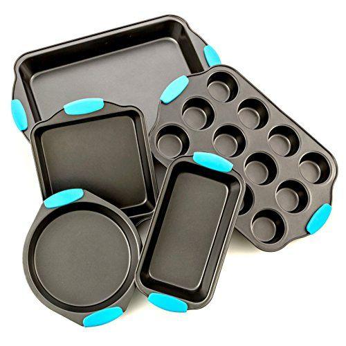 Bakeware Set Premium Nonstick Baking Pans Set Of 5 With