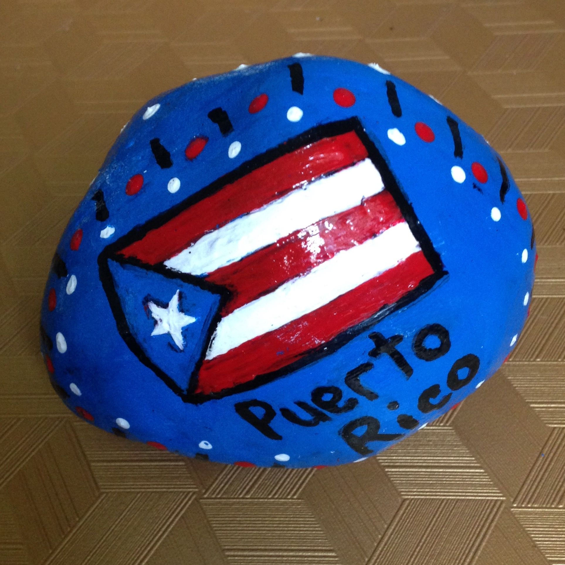 Puerto Rico Painted Rock