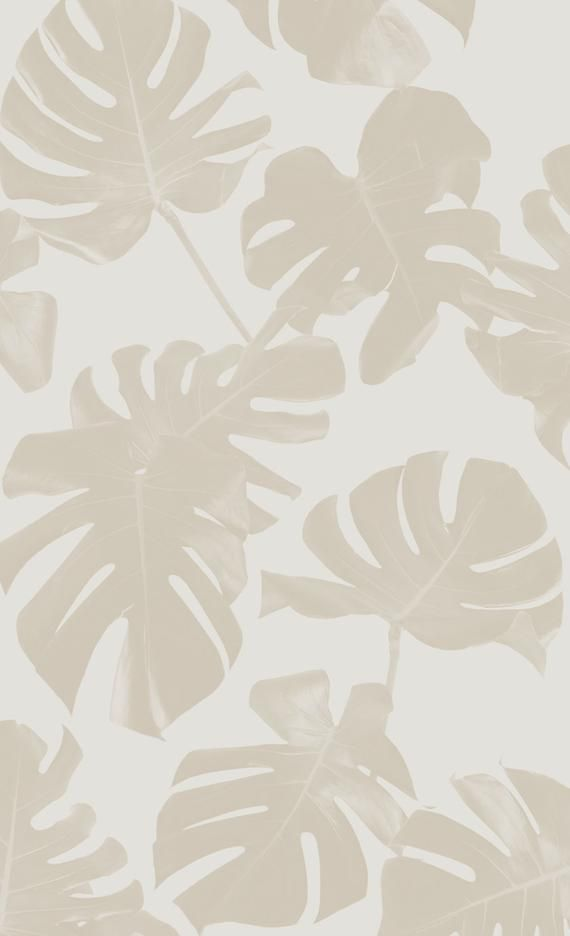 Basic Monstera Leaf REMOVABLE Fabric Wallpaper - P