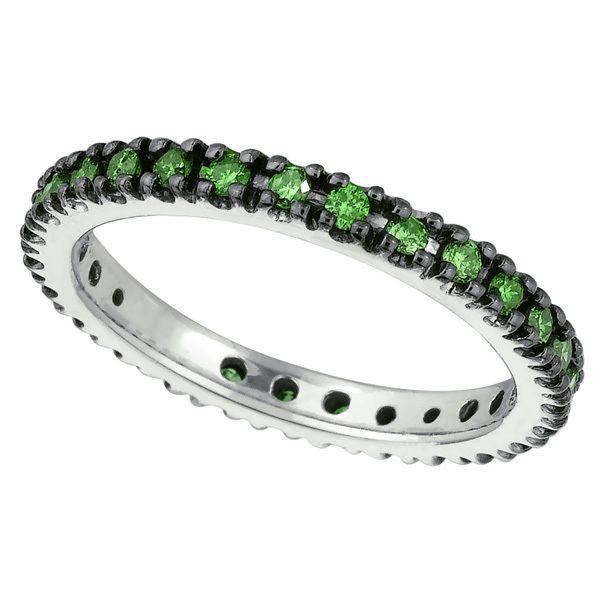 Jewelry Point 2 3ct Fancy Green Diamond Wedding Band Eternity Ring 650 00