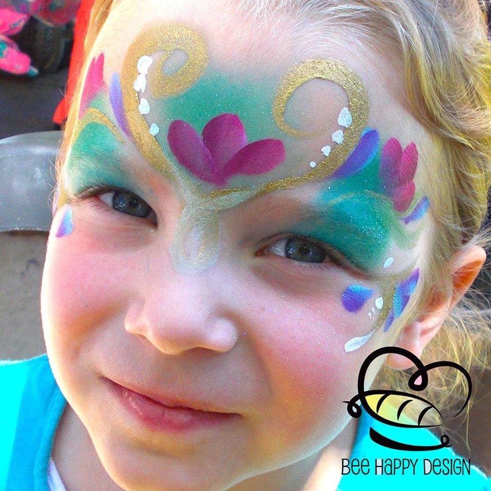 Kathryn Awe || Anna from frozen | face painting | Pinterest