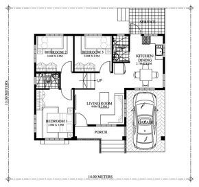Gorgeous 3 Bedroom Modern Bungalow House Plan Myhomemyzone Com Modern Bungalow House Plans Modern Bungalow House One Storey House