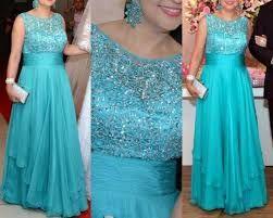 Resultado de imagem para vestido longo azul tiffany