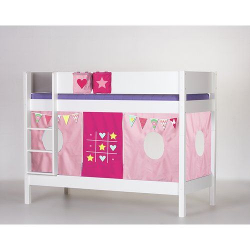 Frigg European Single Bunk Bed With Curtain Harriet Bee Colour
