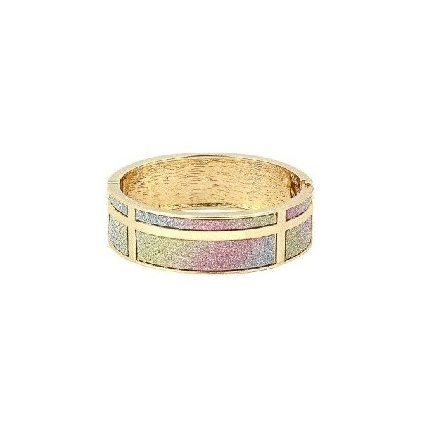 Yoins Glitter Hinge Bangle Bracelet ($6.03) ❤ liked on Polyvore featuring jewelry, bracelets, bangle bracelet, bracelets bangle, hinged bangle, sparkle jewelry and party jewelry