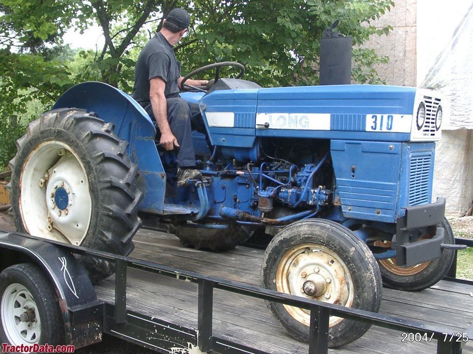 445 long tractor - YouTube