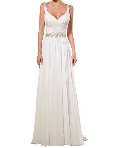 Topquality2016 Women's V Neck Open Back Chiffon Wedding Dress Size 12 Ivory Topquality2016 http://www.amazon.com/dp/B01AD26CKQ/ref=cm_sw_r_pi_dp_8MeRwb0ZJ7ZYJ