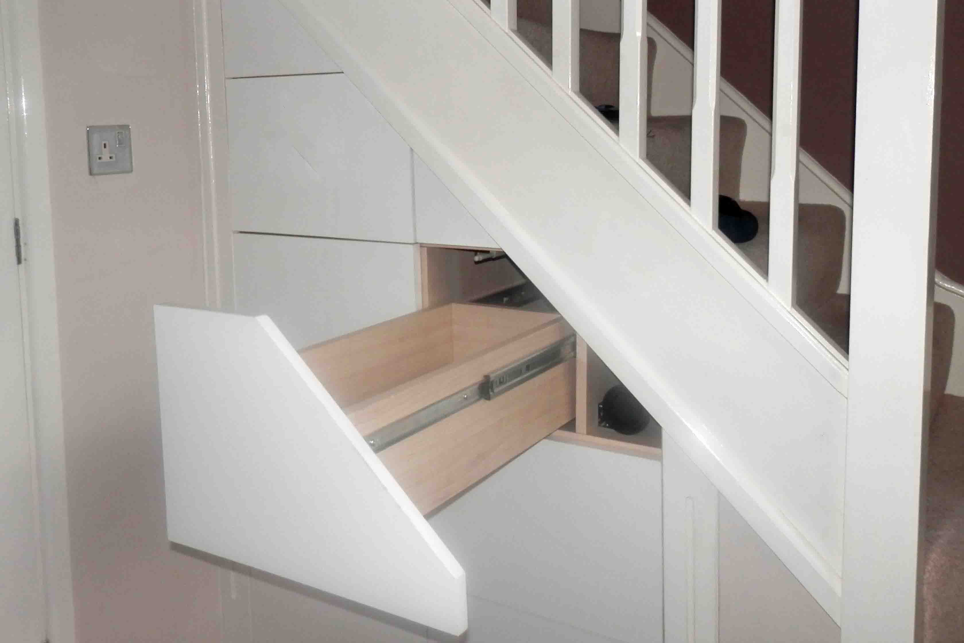 Under the stairs drawers