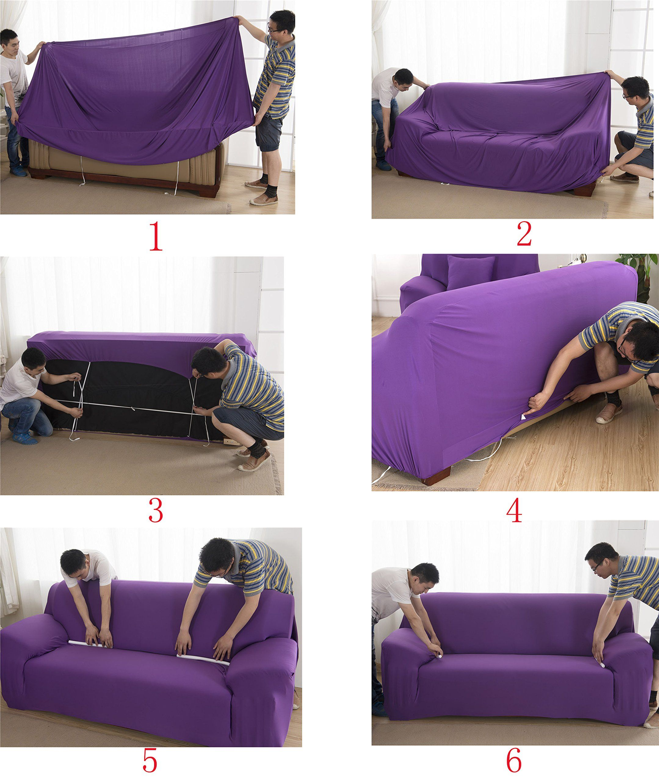 Womaco L Shape Sofa Covers Sectional Sofa Cover 2 Pcs Stretch Sofa