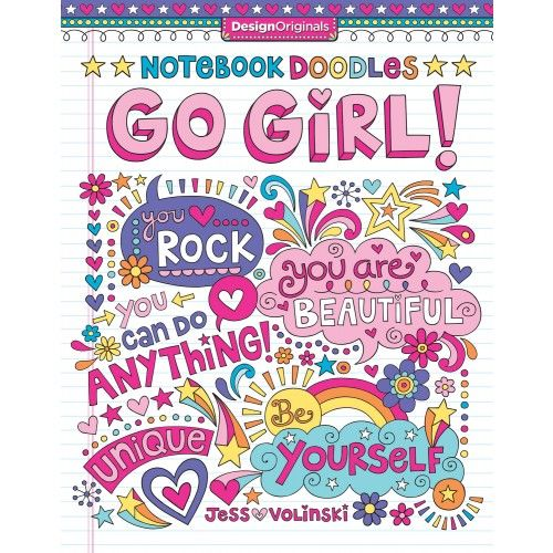 Notebook Doodles Go Girl Doodles Notebook Doodles Coloring