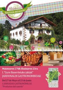 """I Jornada Gastronómica """"Productos del Caserío"""" http://goo.gl/s6o2xG"""