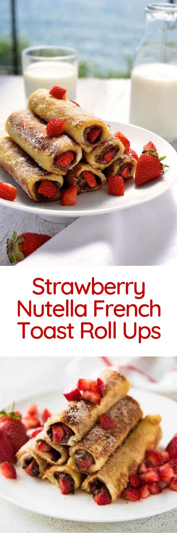 Strawberry Nutella French Toast Roll Ups (Dengan gambar)
