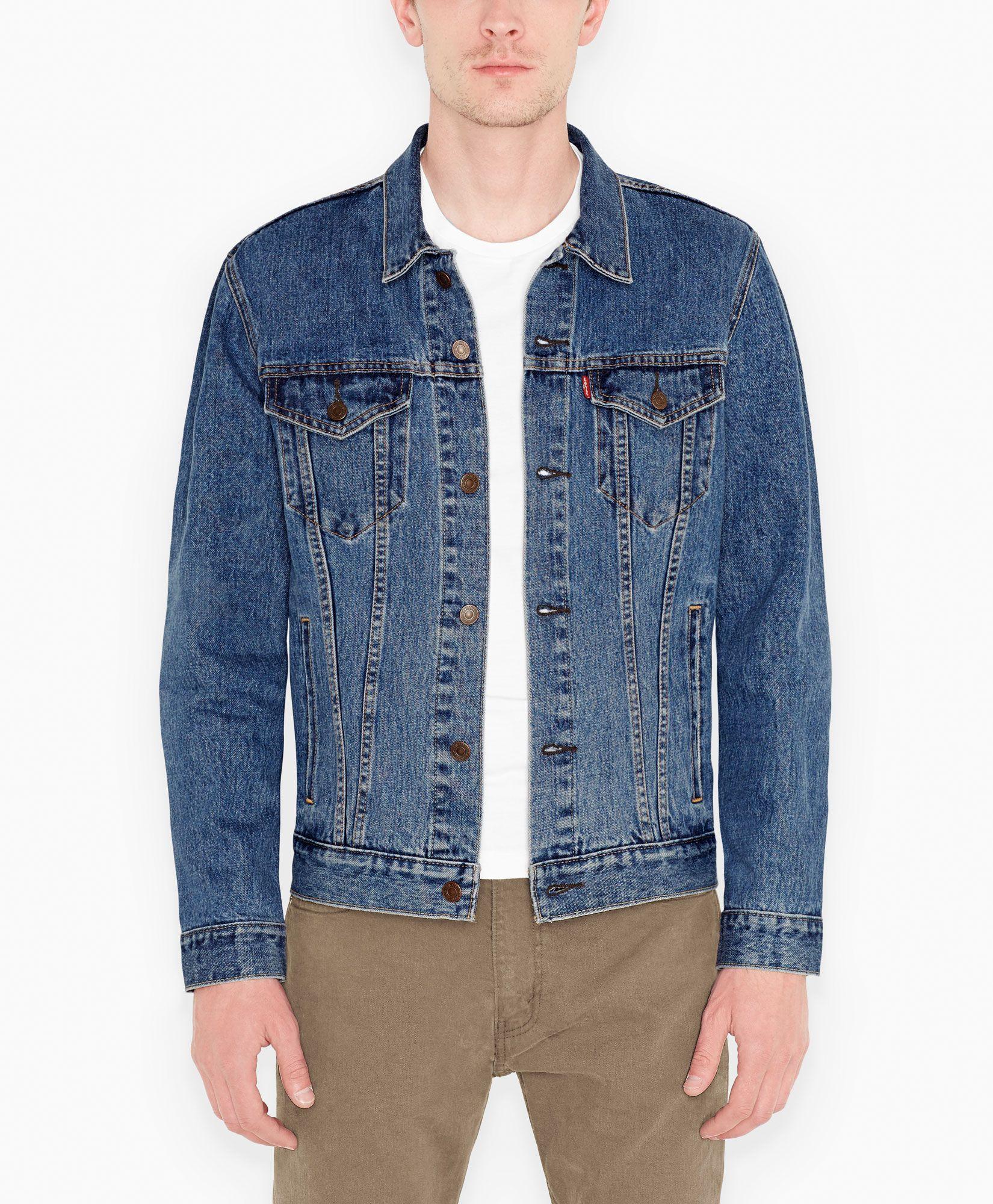 Trucker Jacket Denim Jacket Men Shop Mens Jeans Blue Jacket Men