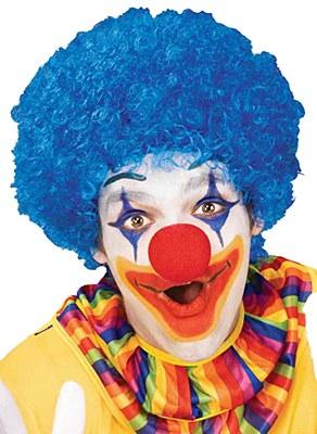 Afro Solid Blue Clown Wig Clown Wig Womens Wigs Green Wig