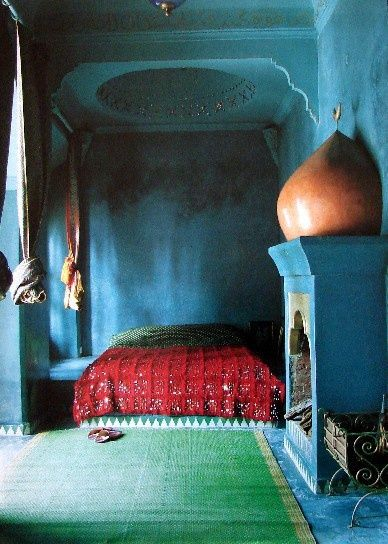 Red Blue And Green Bedroom Morocco