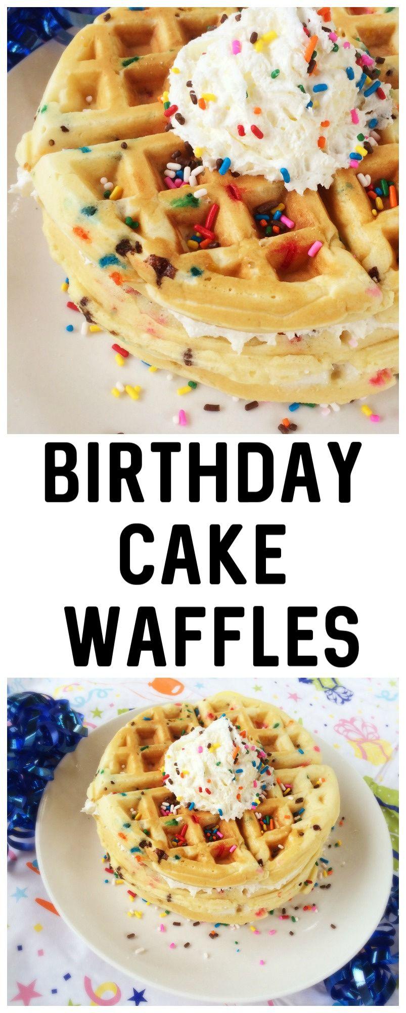 Birthday cake waffles recipe waffle cake waffle