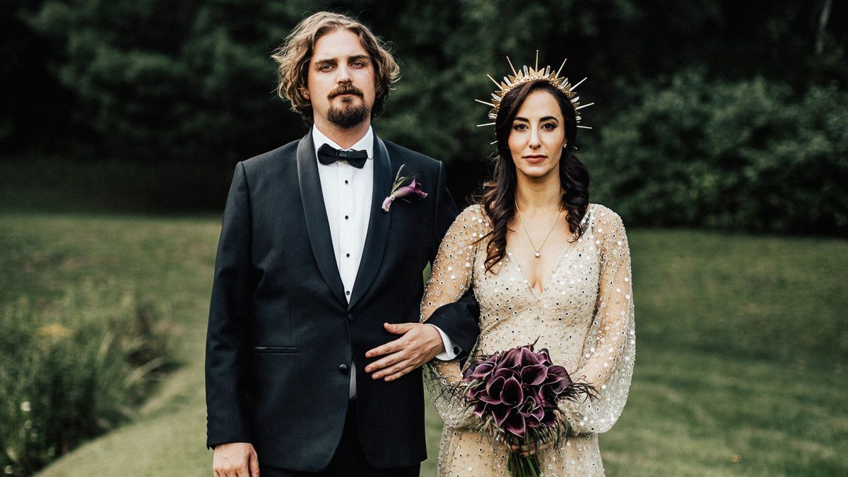 A Moody Gothic Inspired Wedding In A Vermont Birch Grove