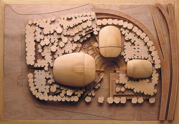 Parco della Musica Auditorium - Rpf, architectural model, maqueta, maquette, modulo