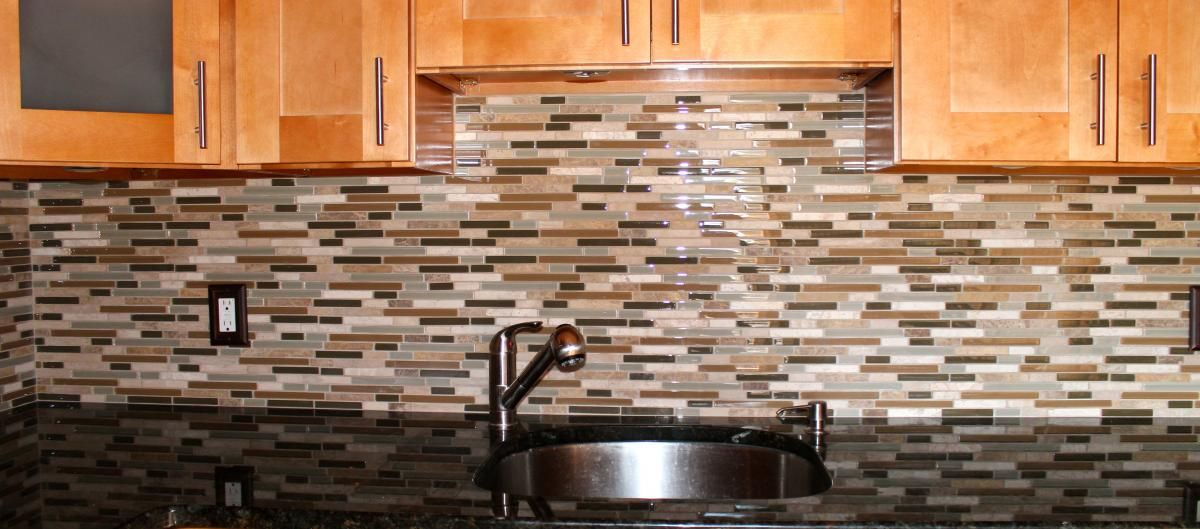 Glass tile backsplash ideas stone and glass backsplash new jersey custom tile kitchen - Custom kitchen backsplash tiles ...