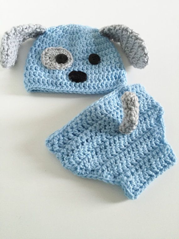 Recién nacido cachorro sombrero sombrero del bebé niño  b65d44ccd0b