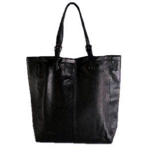 Feynsinn Large Xl Per Melly Real Leather Tote Bag Handmade Handbag Black