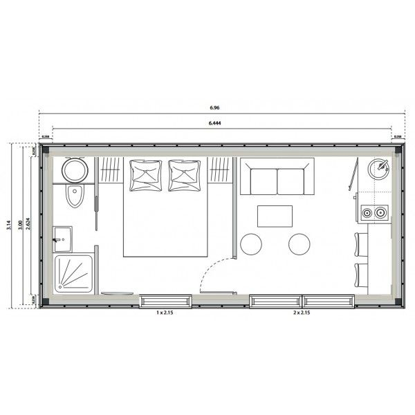 Emejing Plan Studio 20m2 Contemporary - lionsofjudah.us ...