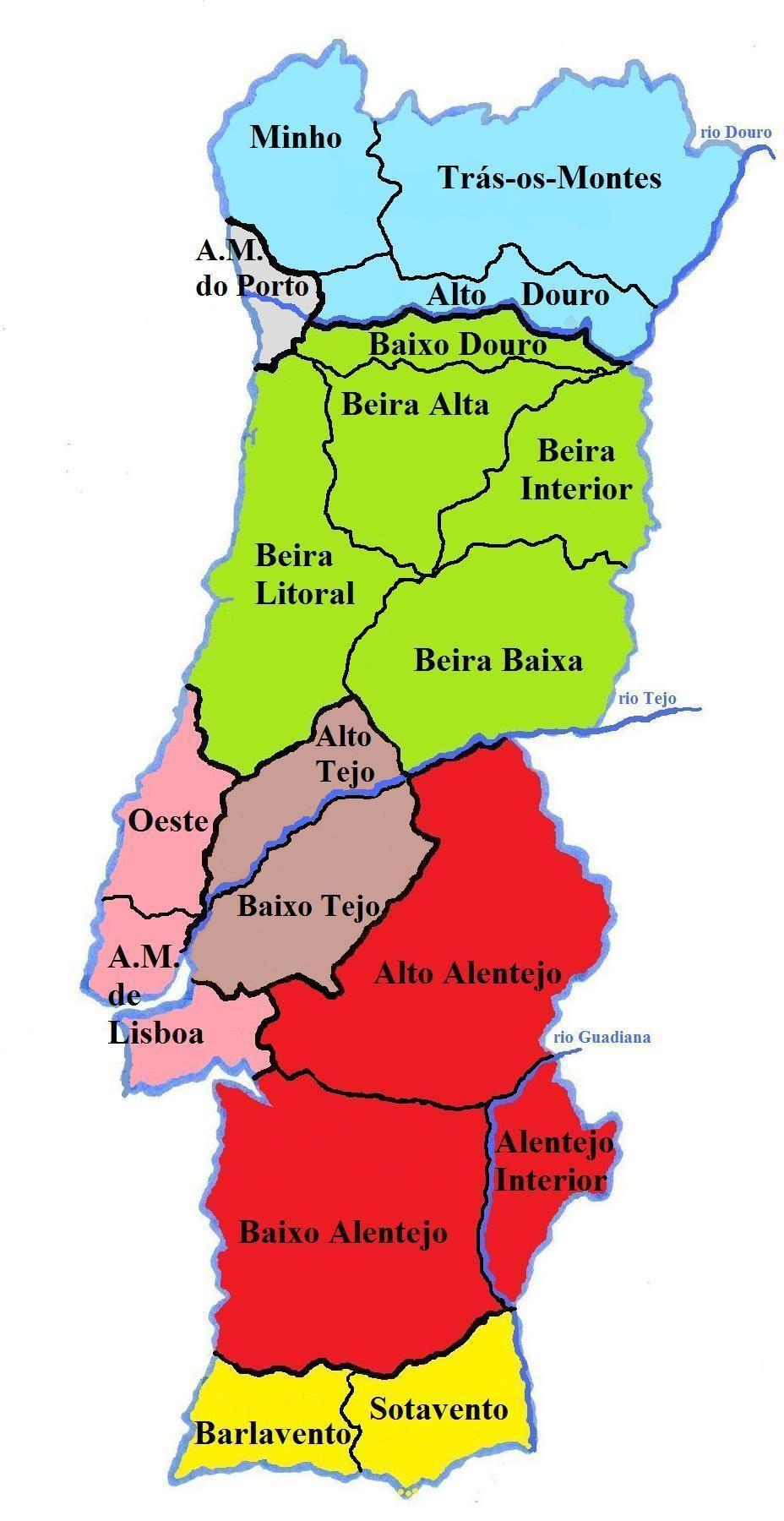 Mapa Portugal Portugal Mapa Viagens Mapa