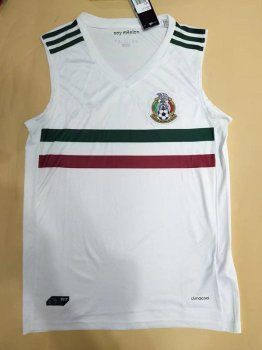 98184ab5255 2017 Cheap Sleeveless Jersey Mexico Soccer Team Away Replica Football Shirt  [AFC104]