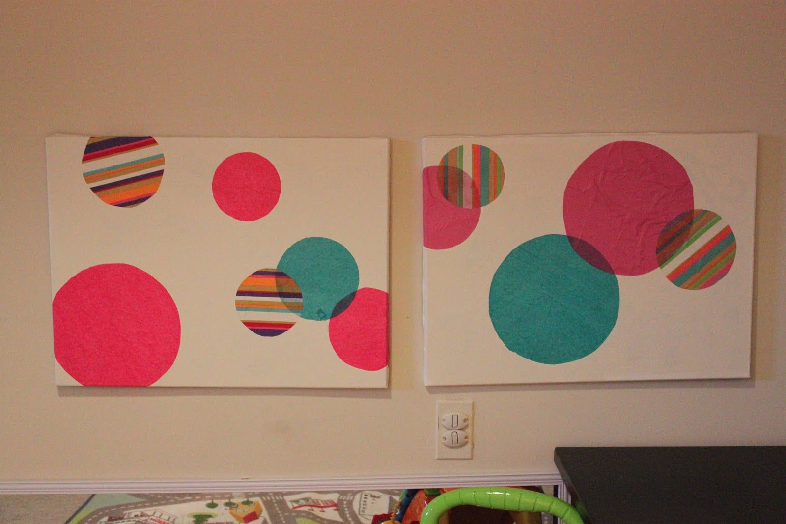 free and easy DIY playroom art