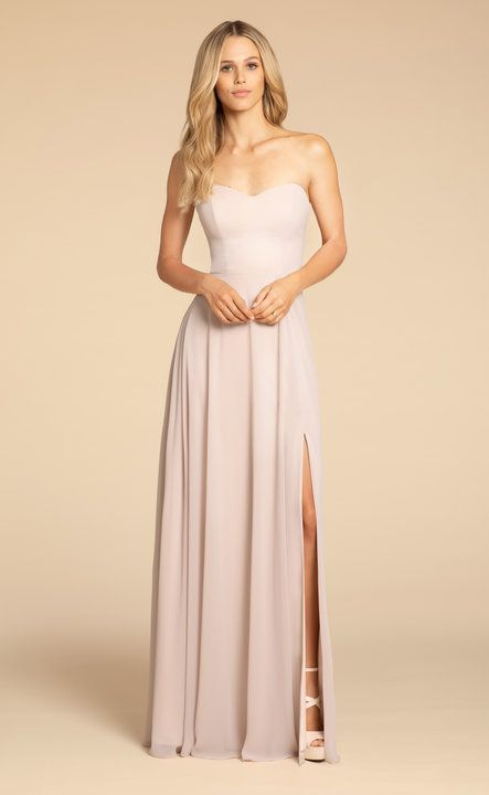 1edac4deb213 Style 5902 Hayley Paige Occasions bridesmaids gown - Candlelight chiffon  A-line gown, sweetheart strapless neckline, keyhole back detail, natural  waist, ...
