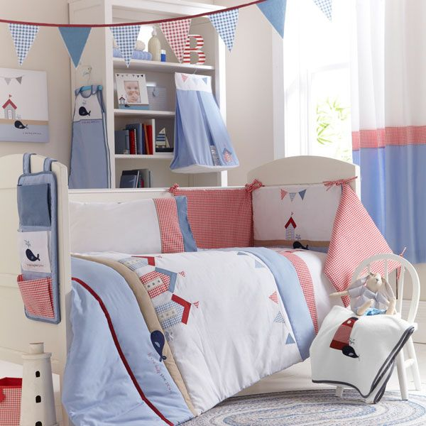 Deep Blue Sea Collection Cot Duvet Cover Baby Linen