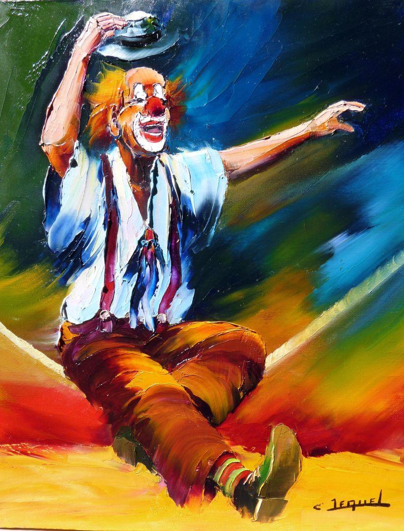 peinture de clowns recherche google pinterest peinture personnage et tableau. Black Bedroom Furniture Sets. Home Design Ideas