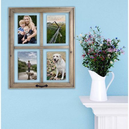 e06fb50720bdefe9494e946618e5499d - Better Homes And Gardens 4 Opening Rustic Windowpane Collage Frame