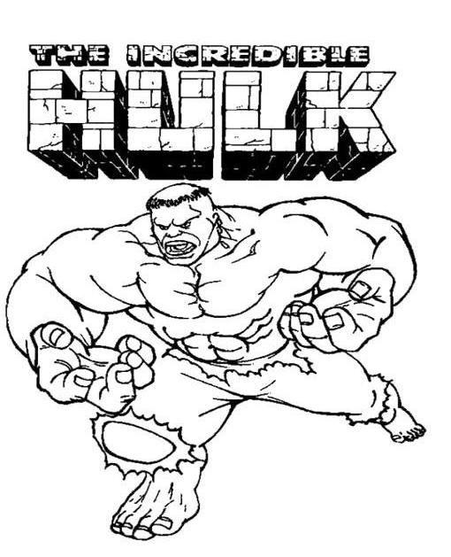 Printable Incredible Hulk Coloring Page For Kids Superhero