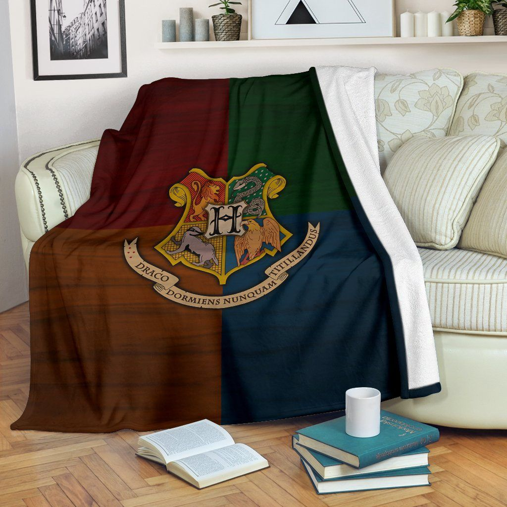 Keep warm with these Harry Potter Hogwarts Premium Blanket. The gorgeous & comfy Hogwarts premium blankets are available for a limited time — RIGHT NOW!!— and they are going fast. So if you are a Harry Potter obsessive, get to it and don't delay. All of our Blankets are custom-made-to-order and handcrafted to the highest quality standards. Each blanket features a premium suede polyester print for beautiful color vibrancy. Cozy underside is constructed from an ultra-soft micro fleece fabric t