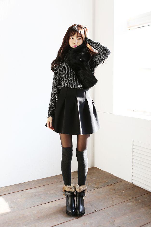 Cute Winter Outfits Korean Addicfashion