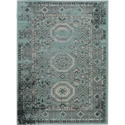 Photo of benuta rug antique turquoise 80×150 cm – vintage rug in used look benuta