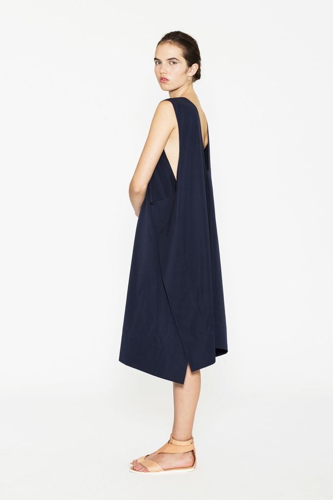 Jasmin Shokrian navy dress